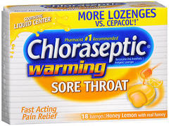 Chloraseptic Warming Sore Throat Lozenges Honey Lemon - 18 EA