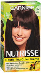 Garnier Nutrisse Nourishing Color Creme Permanent Haircolor 40 Dark Chocolate (Dark Brown) - 1 EA