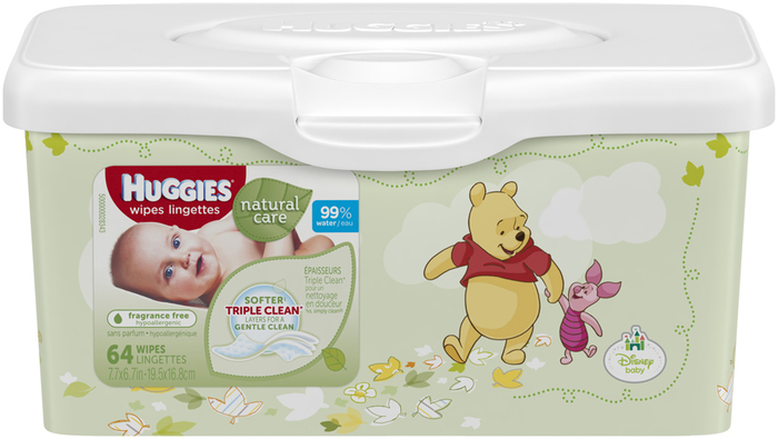 HUGGIES Natural Care Wipes Tub Fragrance Free - 64 EA
