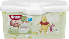 HUGGIES Natural Care Wipes Tub Fragrance Free - 64 EA