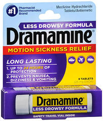Dramamine Motion Sickness Relief Tablets Less Drowsy Formula - 8 TAB