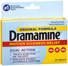 Dramamine Motion Sickness Relief Tablets Original Formula - 36 TAB