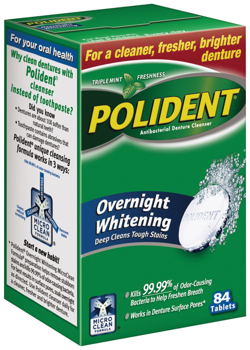 Polident Overnight Whitening Tablets - 84 TAB