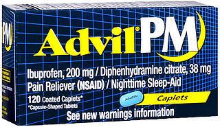 Advil PM Caplets - 120 TAB