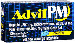Advil PM Caplets - 120 TAB