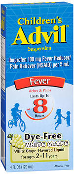 Advil Children's Suspension Fever White Grape - 4 OZ