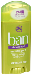 Ban Anti-Perspirant Deodorant Invisible Solid Shower Fresh - 2.6 OZ
