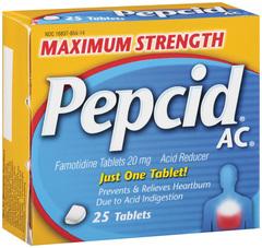 Pepcid AC Acid Reducer, Maximum Strength, Tablets  - 25ea