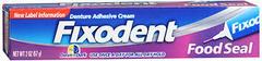 Fixodent Control Denture Adhesive Cream  -  2 OZ