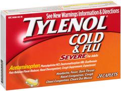 Tylenol Cold & Flu Severe Caplets - 24 CAP