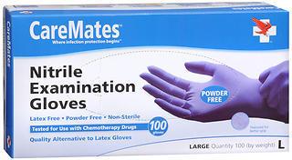 CareMates Powder-Free Nitrile Examination Gloves Large - 100 EA