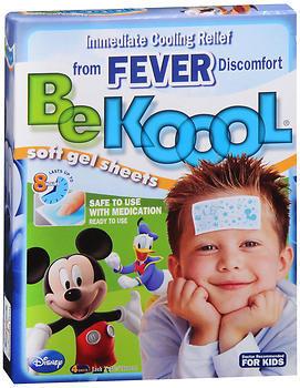 Be Koool Soft Gel Sheets Fever for Kids - 4 EA