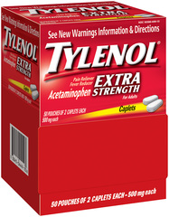 Tylenol Extra Strength Acetaminophen Caplets - 100 TAB