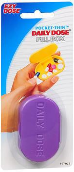 Ezy-Dose Pocket-Thin Daily Dose Pill Box 67023 - 1 EA