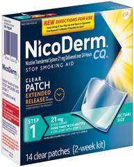 NicoDerm CQ Clear Patches Step 1 - 14 UNIT