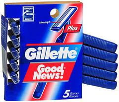 Gillette Good News Plus Razors - 5 EA