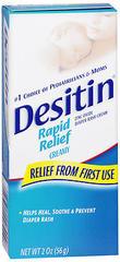 DESITIN Rapid Relief Diaper Rash Cream - 2 OZ