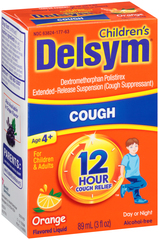 Delsym 12 Hour Cough Relief Liquid Orange - 3 OZ
