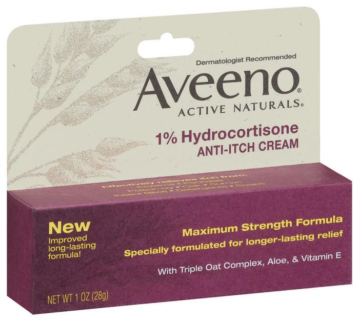 AVEENO Active Naturals 1% Hydrocortisone Anti-Itch Cream Maximum Strength Formula - 1 OZ