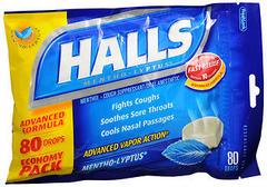 Halls Mentho-Lyptus Drops - 80 EA