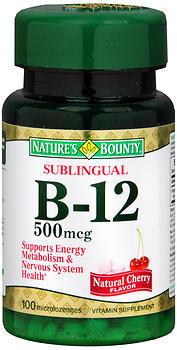 Nature's Bounty Vitamin B-12 500 mcg Microlozenges Sublingual Dots - 100 TAB