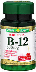 Nature's Bounty Vitamin B-12 500 mcg Microlozenges Sublingual Dots - 100 TAB