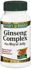 Nature's Bounty Ginseng Complex plus Royal Jelly Capsules - 75 CAP