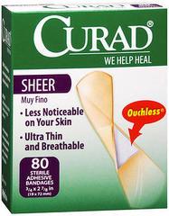 Curad Sheer Bandages - 80 EA
