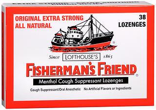 Fisherman's Friend Cough Suppressant Lozenges Menthol - 38 EA