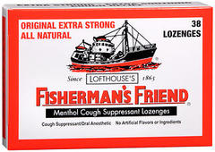 Fisherman's Friend Cough Suppressant Lozenges Menthol - 38 EA