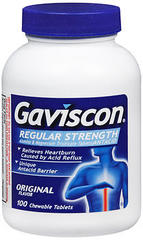 Gaviscon Antacid Chewable Tablets Regular Strength Original Flavor - 100 TAB