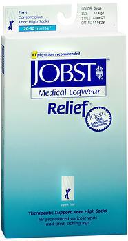 JOBST Medical LegWear Knee High 20-30 mmHg Firm Compression X-Large Beige Open-Toe - 1 EA
