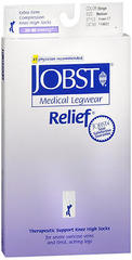JOBST Relief Therapeutic Support Knee High Socks Extra Firm Compression Closed Toe Medium Beige - 1 EA