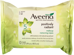 Aveeno Active Naturals Positively Radiant Makeup Removing Wipes - 25 EA