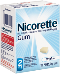 Nicorette 2 mg Gum Original - 110 EA