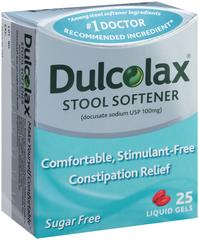 Dulcolax Stool Softener Liquid Gels - 25 CAP
