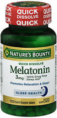 Nature's Bounty Melatonin 3mg Quick Dissolve Tablets - 120 Count