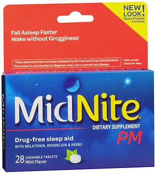 MidNite PM Sleep Aid Chewable Tablets Mint - 28 EA