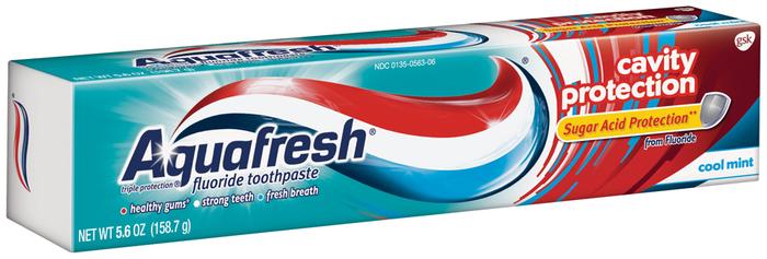 Aquafresh Cavity Protection Fluoride Toothpaste Cool Mint - 5.6 OZ