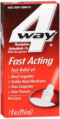 4 Way Fast Acting Nasal Spray - 1 OZ
