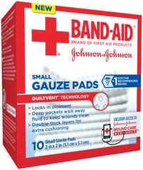 BAND-AID Gauze Pads Small - 10 EA