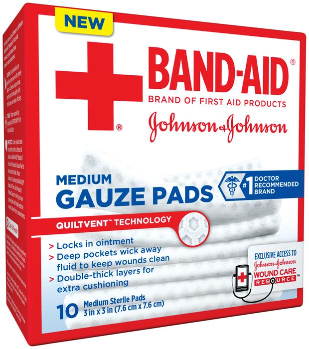 BAND-AID Gauze Pads Medium - 10 EA