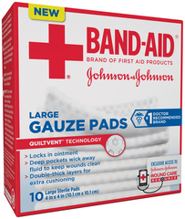 BAND-AID Gauze Pads Large - 10 EA