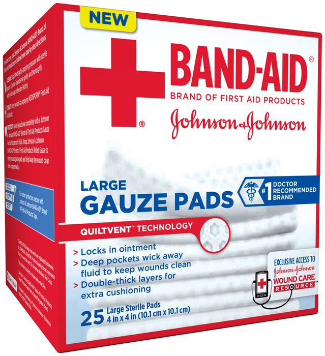 BAND-AID Gauze Pads Large - 25 EA