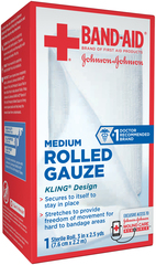 BAND-AID Rolled Gauze Medium - 1 EA