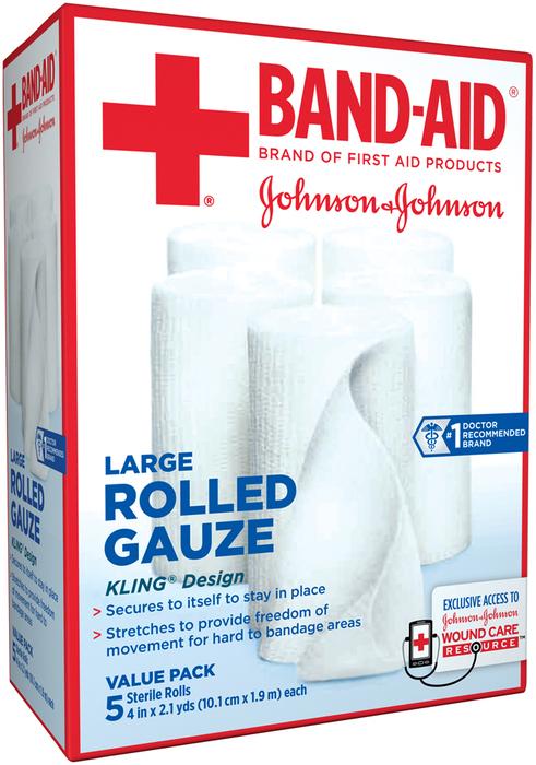BAND-AID Rolled Gauze Large - 5 EA