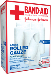 BAND-AID Rolled Gauze Large - 5 EA