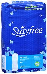 Stayfree Maxi Pads Regular Absorbency - 8 EA