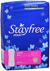 Stayfree Maxi Pads Super - 8 EA