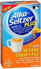 Alka-Seltzer Plus Day Severe Cold + Flu Powder Packets Honey Lemon - 6 EA